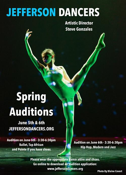 Spring Auditions poster