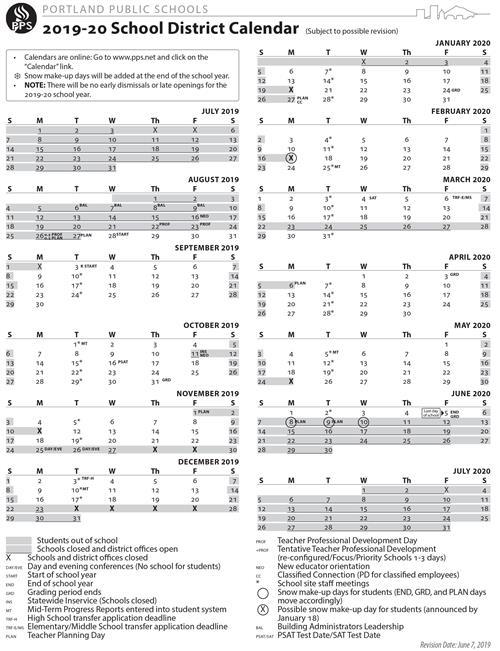 Portland Public Schools Calendar 2022.P O R T L A N D S C H O O L D I S T R I C T C A L E N D A R Zonealarm Results