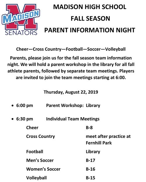fall info night 19