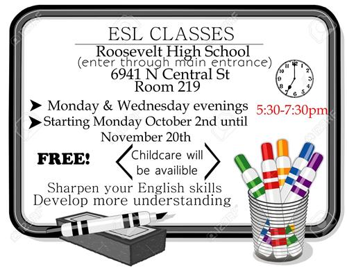free ESL classes at RHS