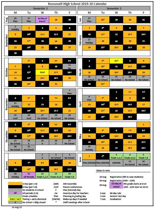 Pps Calendar.Roosevelt High School Homepage