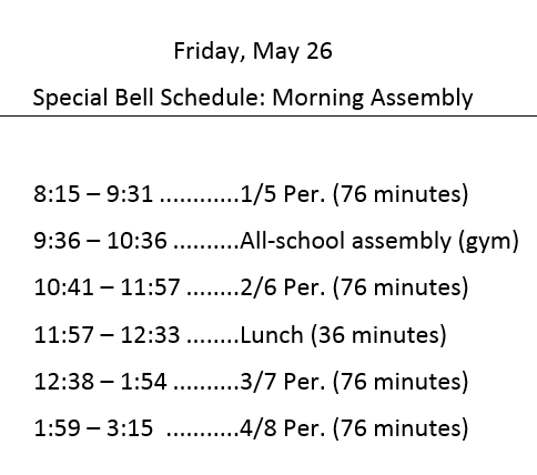 Friday assembly sched