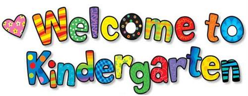 "Beautifully colored ""Welcome to Kindergarten"""