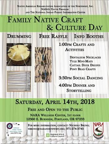 NARA Family Night Craft & Culture Day 4-14-18