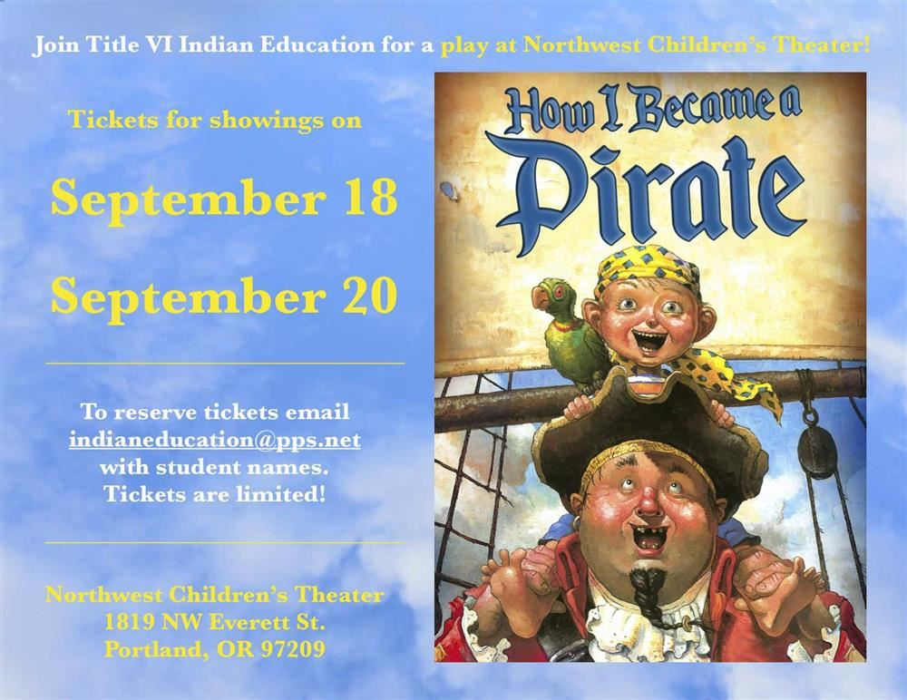 Northwest Children's Theater play September 18th and 20th