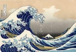 """The Great Wave"" painted by Katsushika Hokusai"