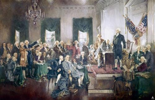 Signing of the Constitution by Howard Chandler Christy. .