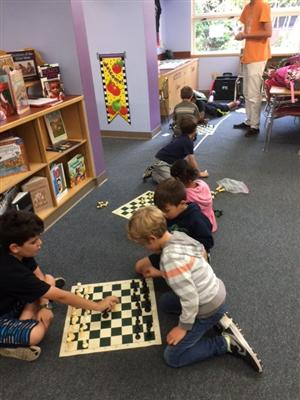 Students At Chess Club