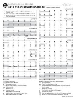 Image of the PPS Calendar, click for the full PDF.