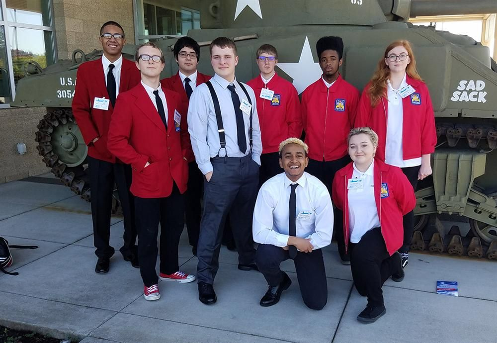 Benson Tech team at the SkillsUSA State Competition, April 2017