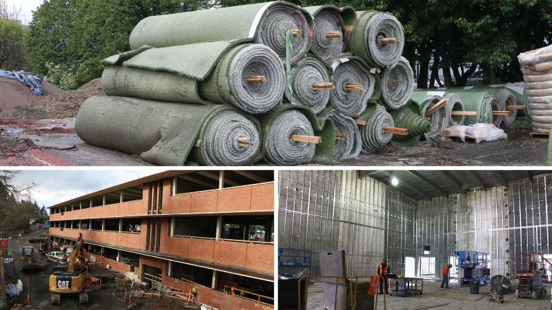 Collage of bond projects
