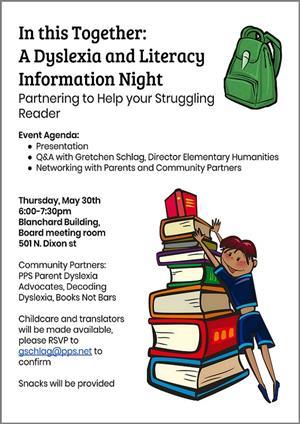 Tomorrow Evening Tuesday 1021 Dyslexia >> District News Detail Page