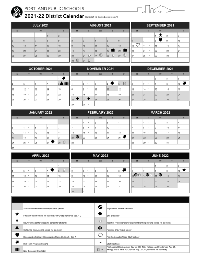 Pps Calendar 2022.District News Detail Page