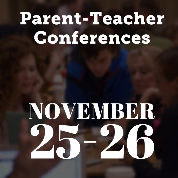 Graphic of parent-teacher conference dates