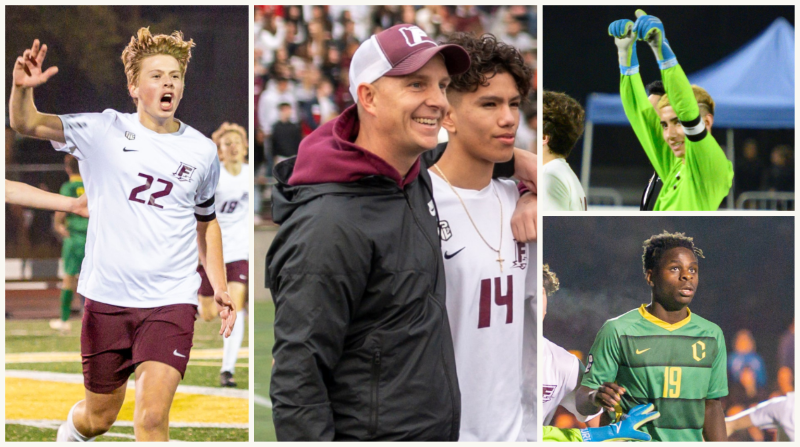 Boys soccer collage