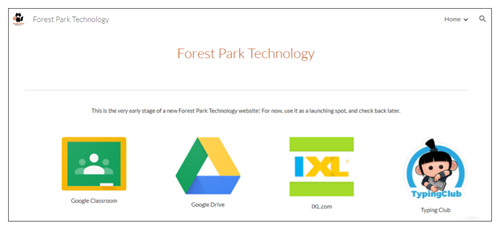 Forest Park Technology Launch Page