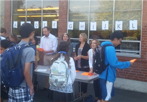 Parent Volunteers on First Day