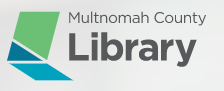 Multnomah County Library website