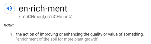 Enrichment definition