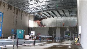 Auxiliary gym interior