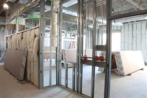framing and insulation in classroom building