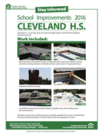 Cleveland School Improvements 2016 Flyer