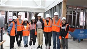 Grant students at construction site