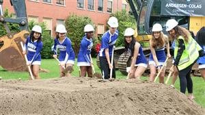 Grant Students at groundbreaking