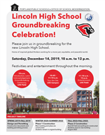 Lincoln Groundbreaking flyer icon