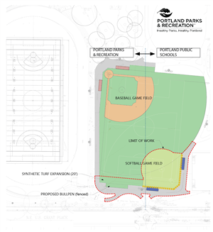 Map of Grant Softball Field