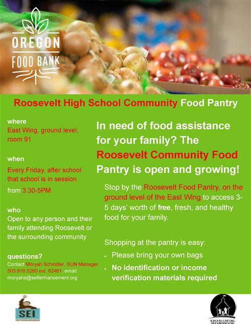 Food Bank is open at Roosevelt